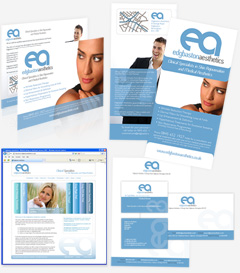 Full corporate identity branding, leaflets, design and print, website design and logo design