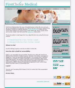 Medical Website, branding, Corporate Stationery design & medical web design for First Choice Medical, Consultant Surgeons